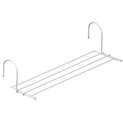 4 Bar White Plastic Radiator Airer Clothes Towel Laundry Folding Dryer Rail Rack