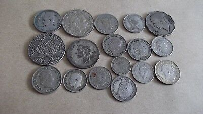 NICE JOB LOT OF OLD COINS WITH GOOD SILVER   99p  NJLS