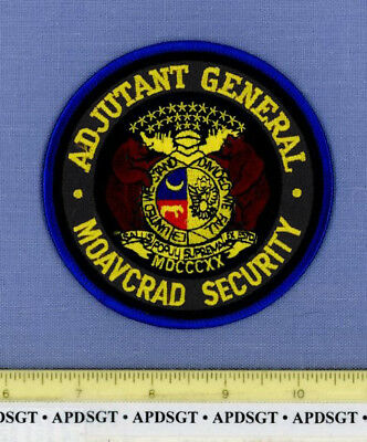 MOAVCRAD SECURITY MISSOURI AVIATION REPAIR DEPOT Police Patch NATIONAL GUARD