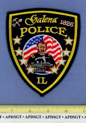 GALENA ILLINOIS Police Patch CIVIL WAR GENERAL ULYSSES S. GRANT HOME RIVERBOAT