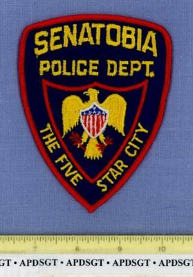 SENATOBIA (Old Vintage) MISSISSIPPI Sheriff Police Patch THE FIVE STAR CITY