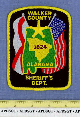 WALKER COUNTY SHERIFF ALABAMA Police Patch STATE SEAL GOLD STAR