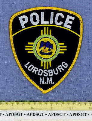 LORDSBURG NEW MEXICO Sheriff Police Patch INDIAN ZIA SUN LOGO
