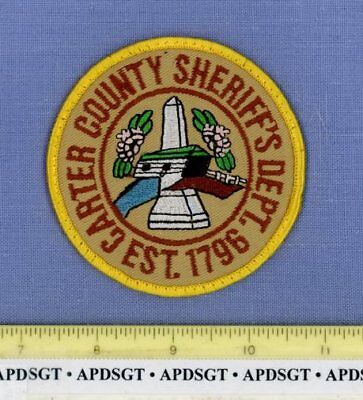 CARTER COUNTY SHERIFF TENNESSEE Police Patch OLD COVERED BRIDGE FLOWERS