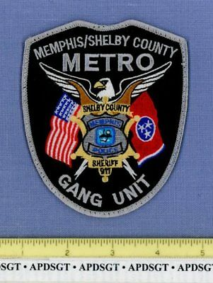 MEMPHIS SHELBY COUNTY METRO GANG UNIT TENNESSEE Sheriff Police Patch TASK FORCE