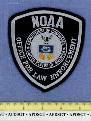NOAA DOC OFFICE for LAW ENFORCEMENT WASHINGTON DC Sheriff Federal Police Patch