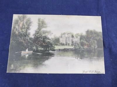 Vintage Postcard Tuck Oilette Guys Cliffe House Warwick Scenic View.