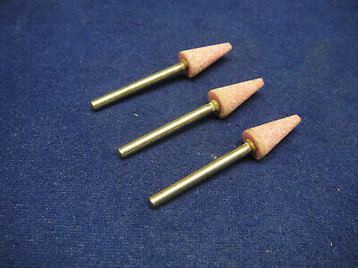 Lukas Shape B53 Mounted Point Pink Grit 8mm x 16mm Grinding Stone 3mm Shank