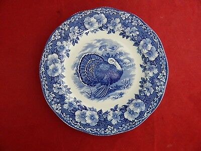 Wedgwood And Co.(10 3/4) Inch Blue Turkey Plate.excellent Unused Condition.