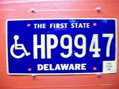 Delaware = 2015 Mar  = Handicap = Wheelchair  = License Plate = 227