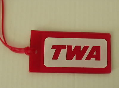Twa - Two Vintage Trans World Airlines Flight & Cabin Crew Bag Tags - Free S/h