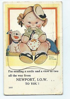 Mabel Lucie Atwell Postcard from Newport, Isle of Wight  Fold-out 12 B/W Photos