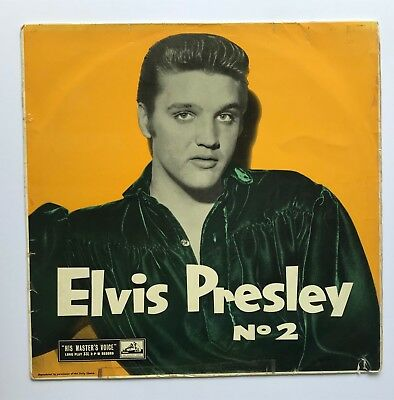 Elvis Presley-Original,rare Hmv No 2,awesome Cover Picture.