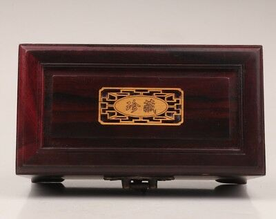 Sandalwood Jewelry Box Contains Interlayer Valuables Stored+Bronze Lock