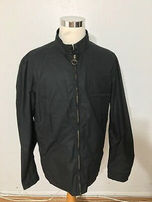 NWT Men's BARBOUR Brompton Waxed Cotton Jacket, XX-Large, Dark Navy