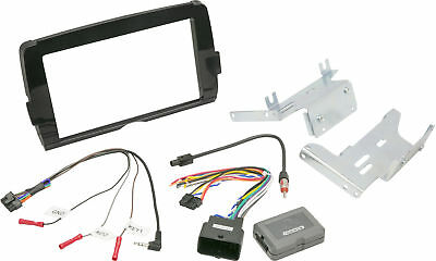 Double Din Stereo Install Kit Scosche HD14UDDBN For Harley Davidson Touring