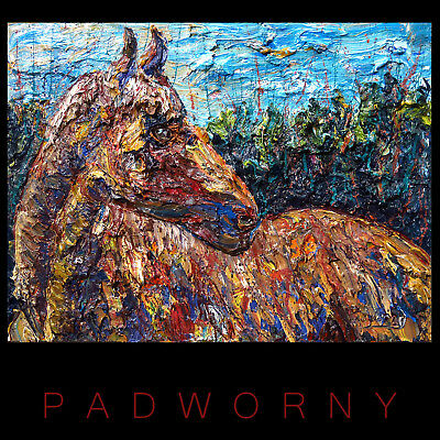 Signed Modern█Original█Oil█Painting█Horse Equestrian Art Abstract█Animal Nature