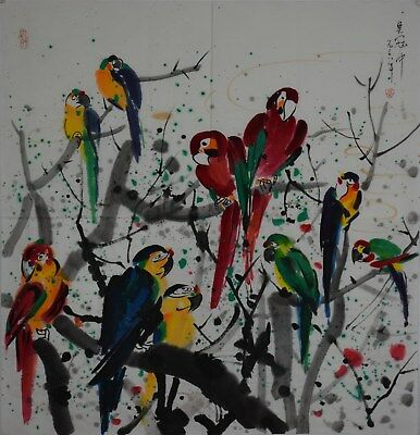 Exquisite Large Chinese Painting Signed Master Wu Guanzhong No Reserve A9668