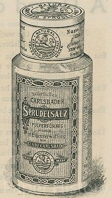 1890s Sprudel Salt Quack Medicine Graphic Advertisement Carlsbad Sprudelsalz