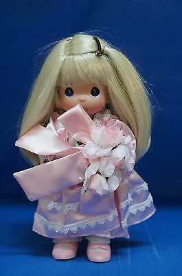 Precious Moments Vinyl Doll Signed 4422 Name Your Own Doll Blonde 4th Edition  B