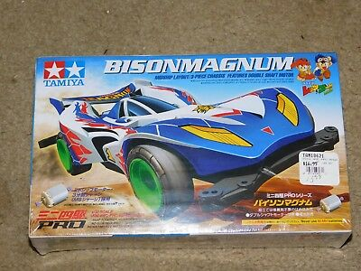 Tamiya 18621 Mini 4WD Pro Series Bisonmagnum (MS Chassis) 1/32 MODEL KIT