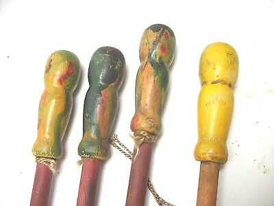Lot of 4 Vintage Carnival Circus Fair Parade Canes