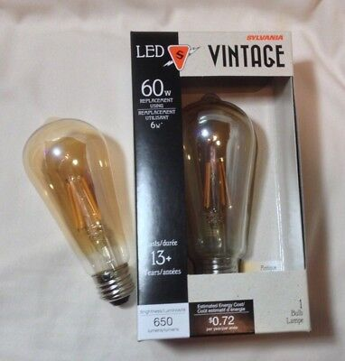 2 NEW LED AMBER tint Light bulb EXTRA WARM low blue 650 lu E26 DIMMABLE 6w = 60w