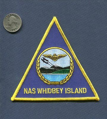 NAS Naval Air Station WHIDBEY ISLAND WA US Navy Base Squadron Jacket Patch