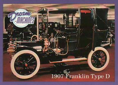1907 Franklin Type D, Imperial Palace Co Las Vegas Car Trading Card Not Postcard