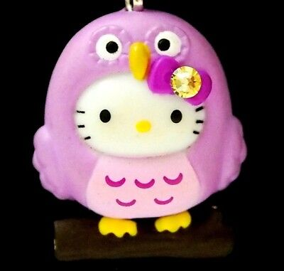 Hello Kitty X Cute Owl Baby Swarovski Elements Crystals Japan Charm Pendant