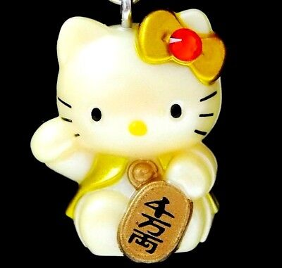 Hello Kitty X Lucky Cat & Gold Coin Swarovski Elements Crystals Japan Charm