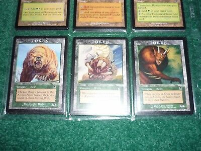 MtG Odyssey COMPLETE SET + 30 FOILS + 4 Hard to Find TOKENS, Bear, Beast & Wurm