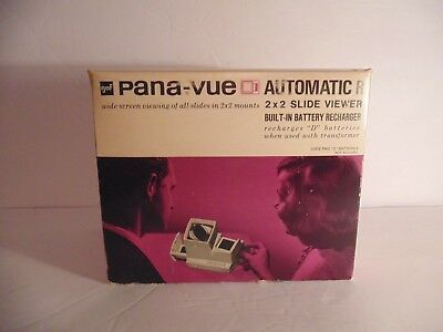 Vintage Pana-Vue Automatic R 2x2 Slide Viewer #6579 with Charger