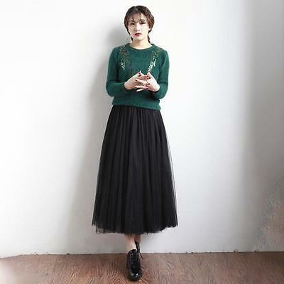 Fashion Multi Layers Skirt Womens Tutu Cocktail Party Dresses Tulle Skirts LG