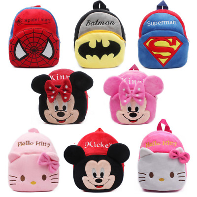 **NEW CHARACTERS ADDED** Cartoon Characters Plush Mini Backpack for Children