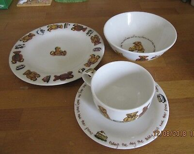 4 PIECE TED-TEA DESIGN by Paul Cardew - cup, saucer, plate, bowl 2000