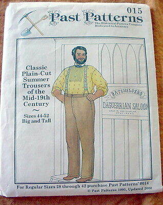 Past Patterns Historical Accuracy Trousers Mid-Century 44-52 Big and Tall