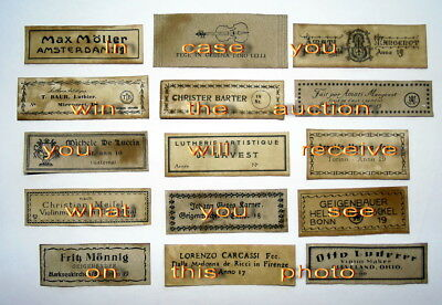 Violin Labels Old copies for the decoration of music shops(set 1252)