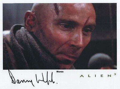 "Alien 3 Auto Photo Print Danny Webb ""Morse"""