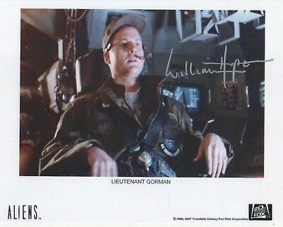 "Aliens Auto Photo Print William Hope ""Lt. Gorman"""