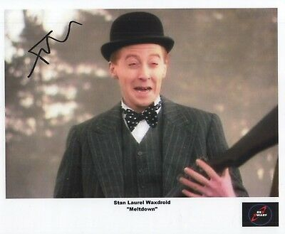 "Red Dwarf Auto Photo Print Forbes Masson ""Stan Laurel Waxdroid"""
