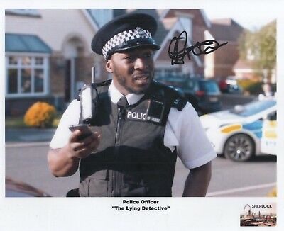 "SHERLOCK Auto Photo Print Eric Kofi-Abrefa ""Police Officer"""