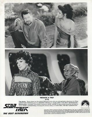 "Star Trek TNG Episode 172 Press/Promo Photograph ""Menage a Troi"""