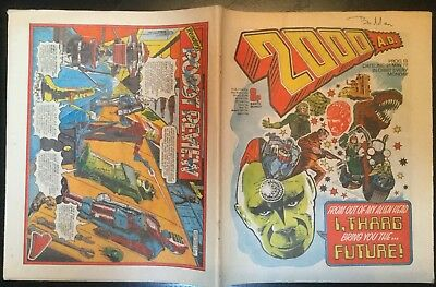 2000AD ft JUDGE DREDD - PROG 13 - MAY 1977 - VERY GOOD CONDITION