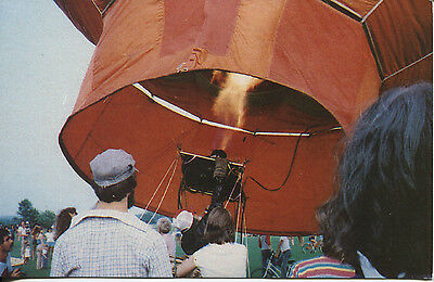 Post Card Of A Hot Air Balloon Being Made Ready For Take Off.