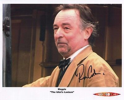 "Doctor Who Auto Photo Print Ron Cook ""Mr. Magpie"""