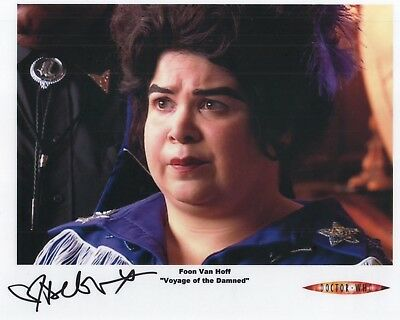 "Doctor Who Auto Photo Print Debbie Chazen ""Foon Van Hoff"""