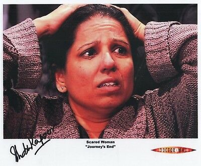 "Doctor Who Auto Photo Print Shobu Kapoor ""Scared Woman"""