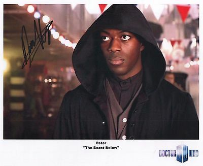"Doctor Who Auto Photo Print David Ajala ""Peter"""