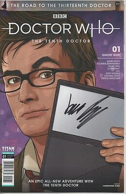"Doctor Who Ghost Ship Comic No.1 August 2018 Auto by James Peaty ""Writer"""